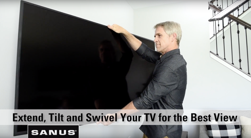 Extend Tilt and Swivel Full Motion TV Mount