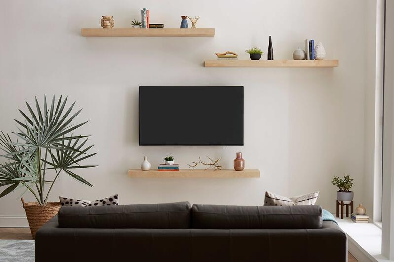 How to Decorate Floating Shelves Around TV