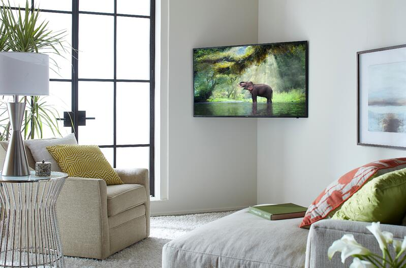 TV Mounted in Corner