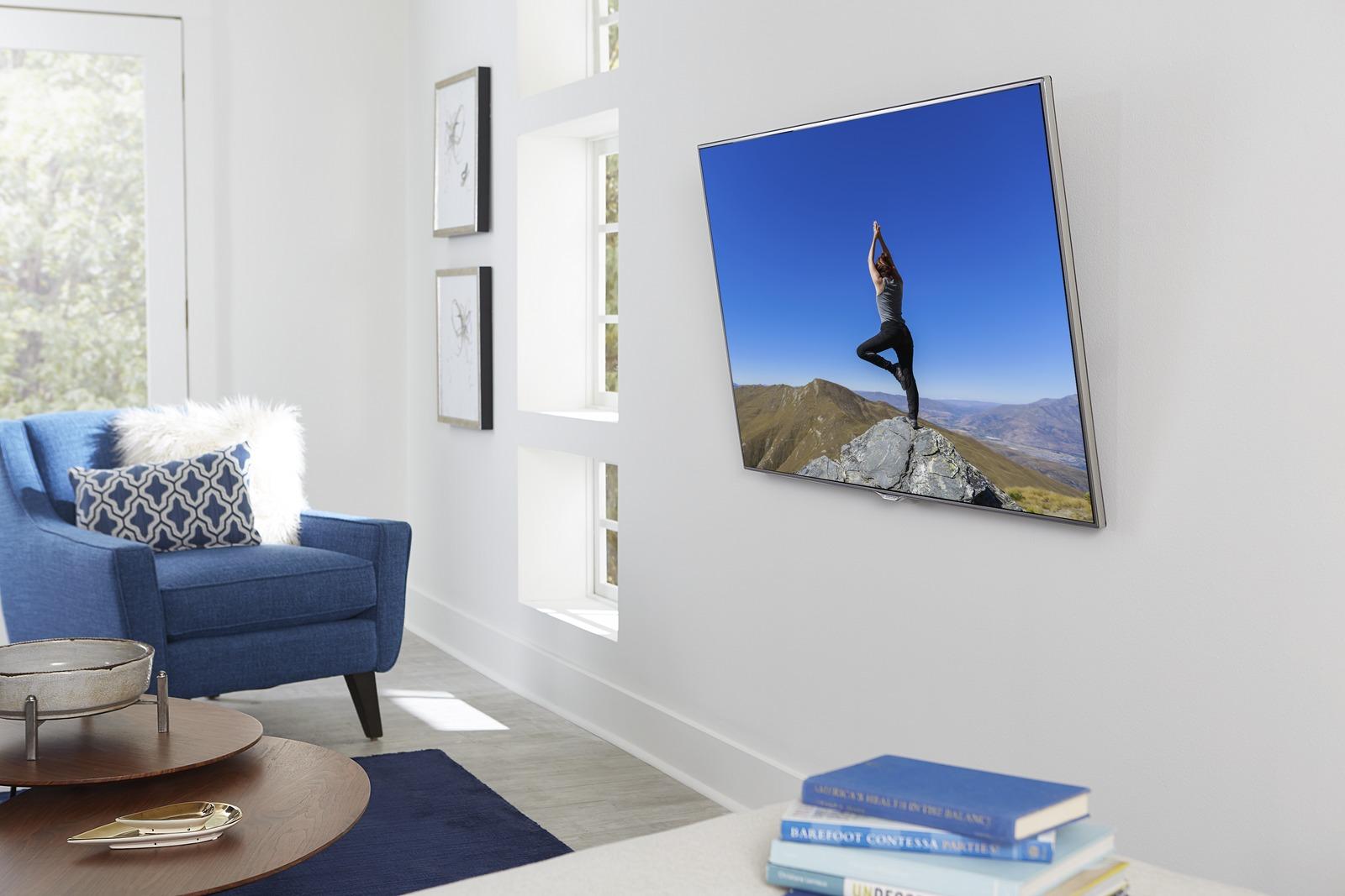 tilting TV mount tilting down