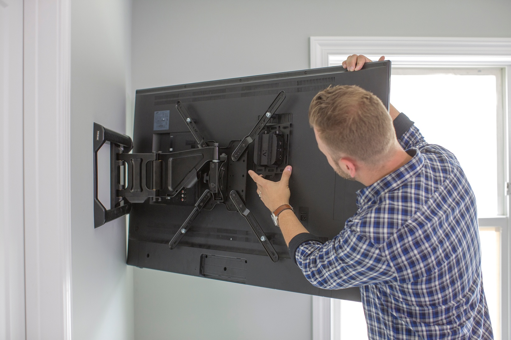 access back of mounted TV