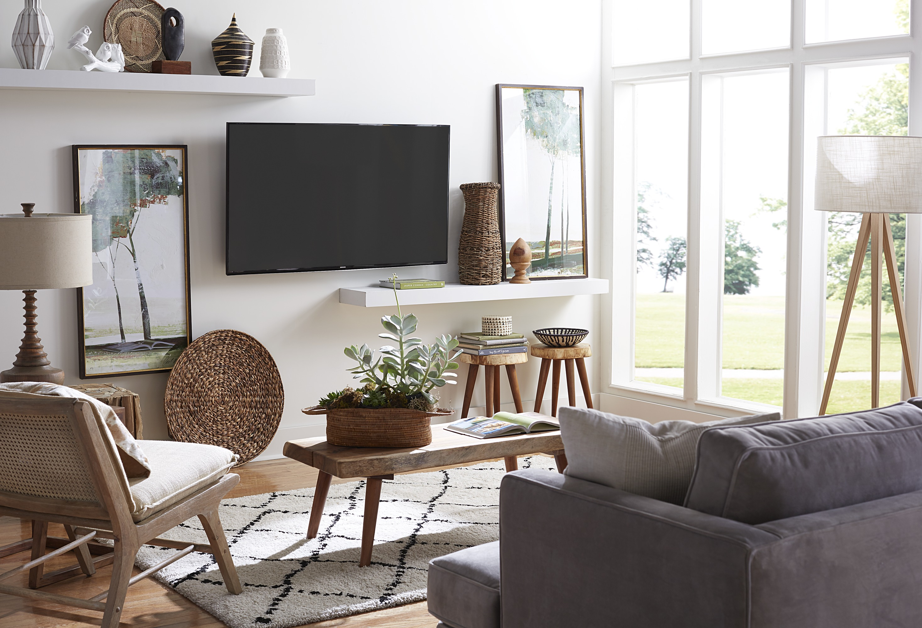 TV in Room with Windows