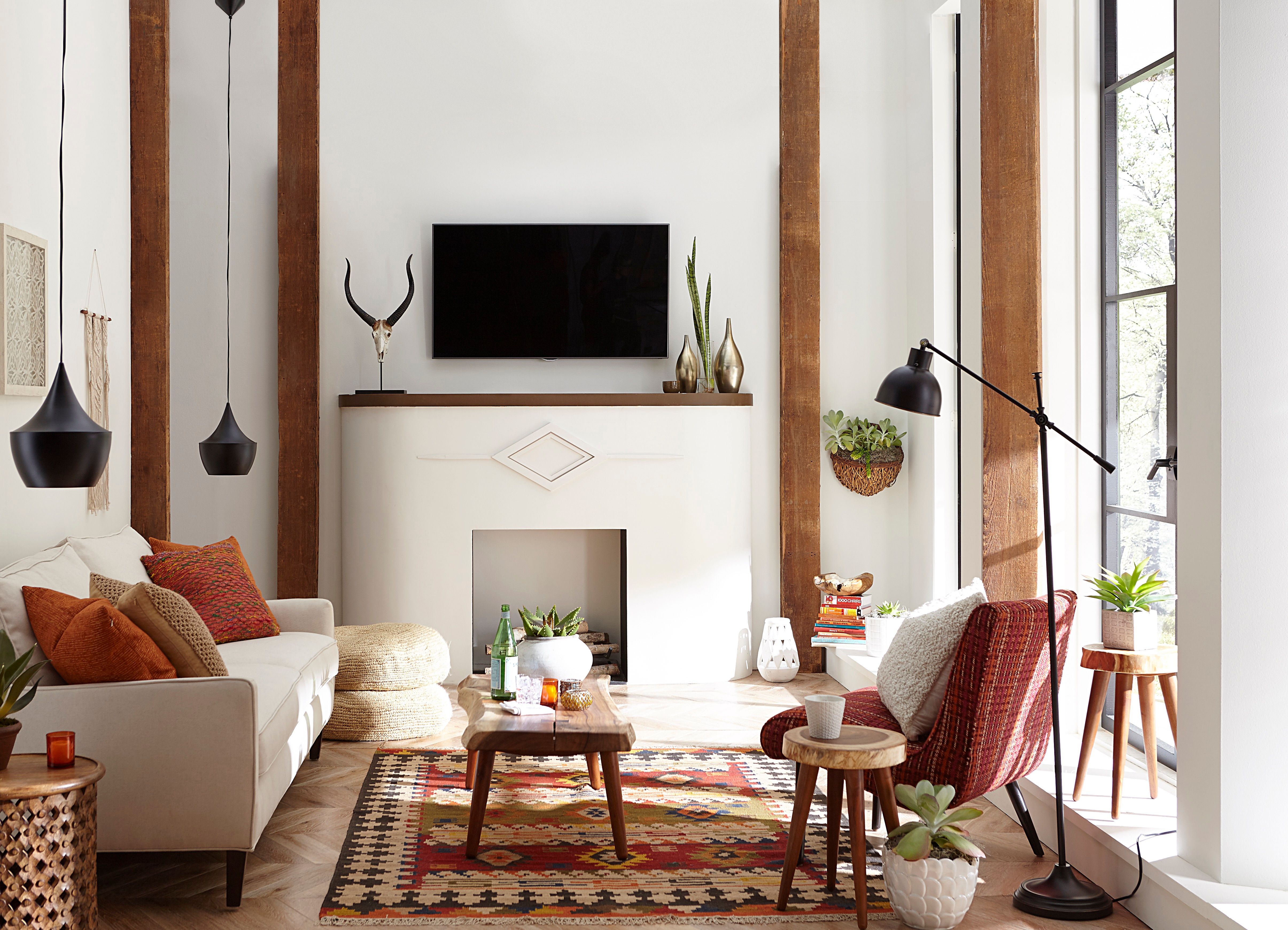 TV Mounted Above a Fireplace
