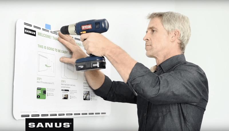 Use SANUS Wall Plate Template