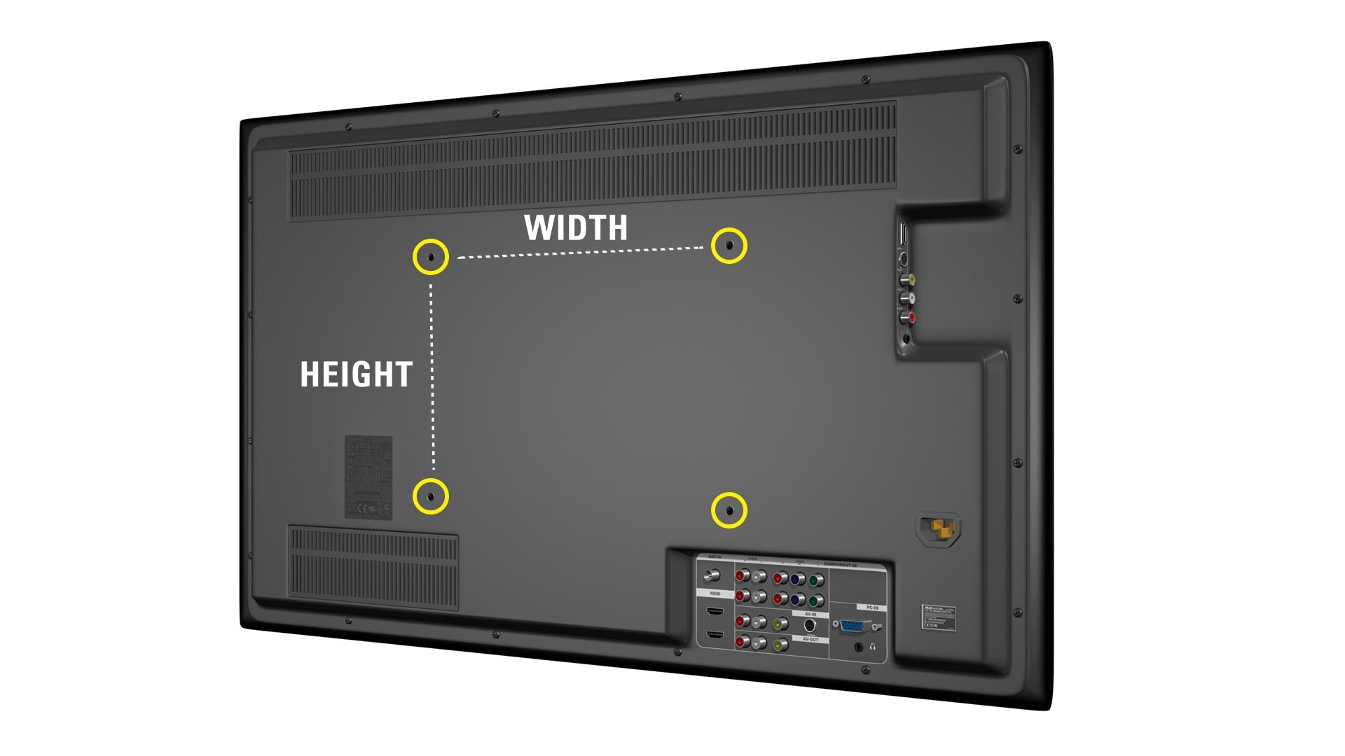 How to find TV VESA pattern