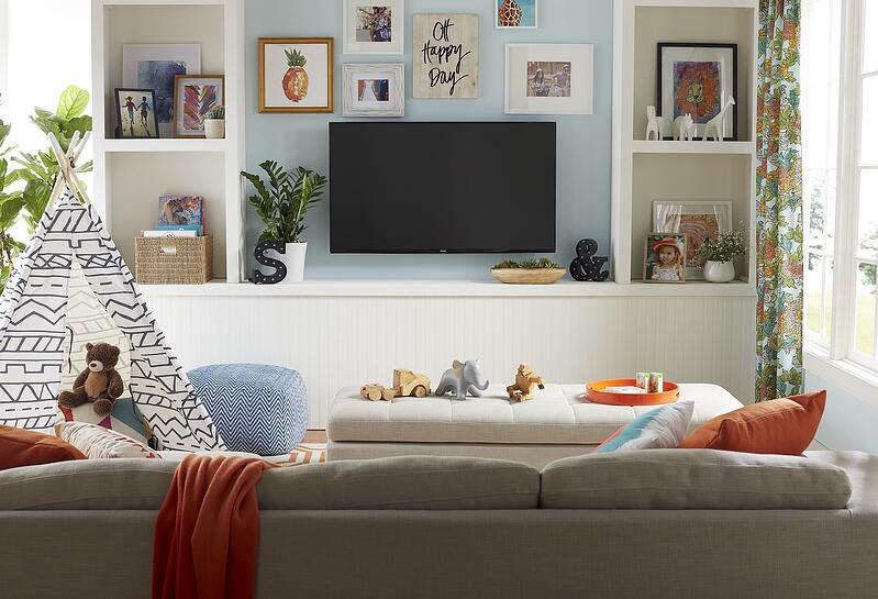 family friendly TV room