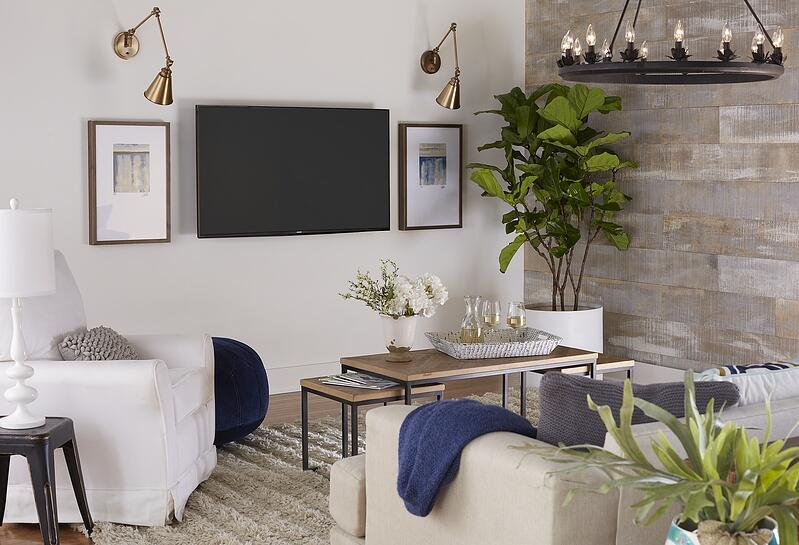 farmhouse TV room