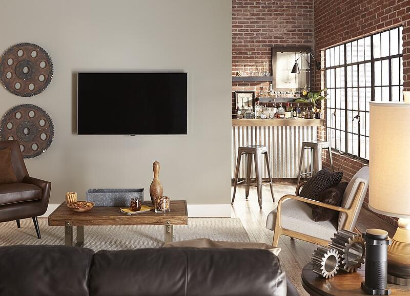 industrial TV room