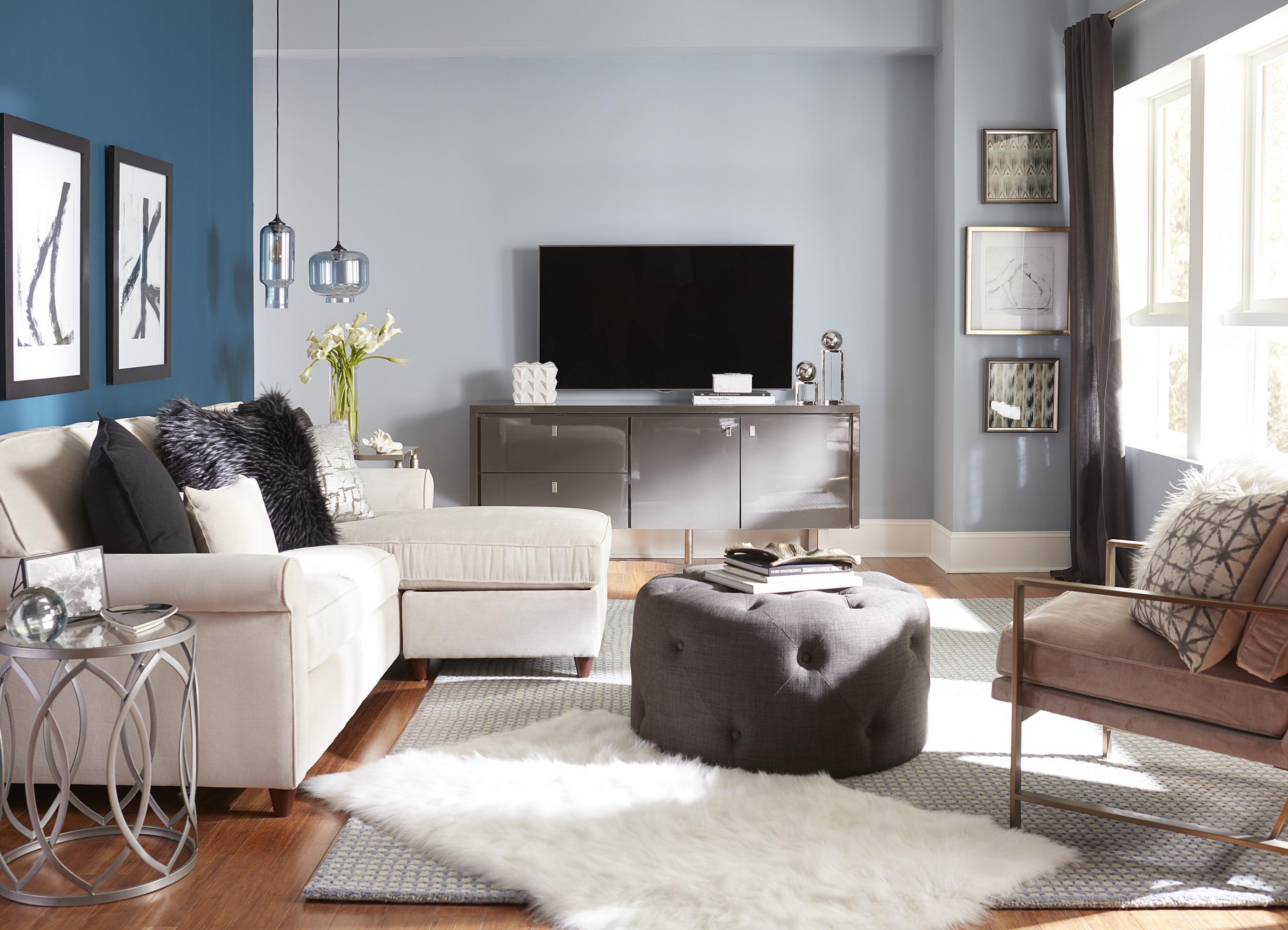 TV Mounted Over Media Furniture